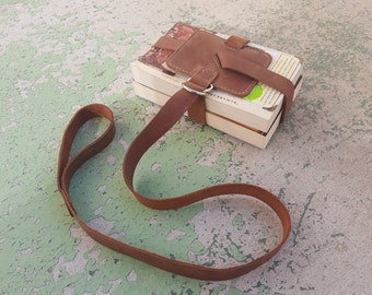 Brown Leather Book Strap