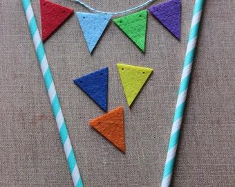Decorative Cake Topper Felt Bunting Kit - Multi Coloured
