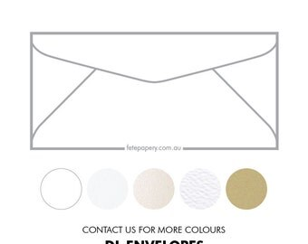 DL Invitation Envelopes 220mm X 110mm (pack of 10)