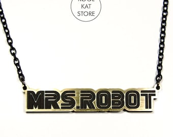 Mrs. robot necklace