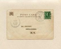 Railroad Post Office Albany Kingston New York Train 9 Rpo 1905 One Cent Benjamin Franklin Signed E Curtis Valentine Postcard Tuck - 5302Pb