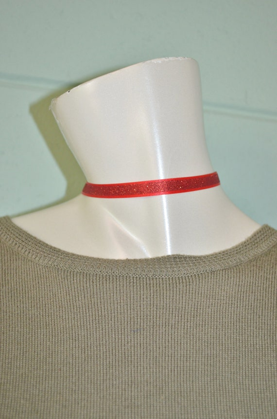 Choker Red Sparkle, Red Ribbon Choker, Red Choker with Bow Charm, Red Glitter Choker, Bow Choker, Red Choker, Bow Choker, Christmas Choker