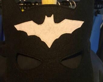 Batgirl Reversible Cape or Felt Mask, Superhero Cape