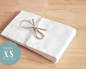 20 paper bags white XS - 6.5 x 11 cm
