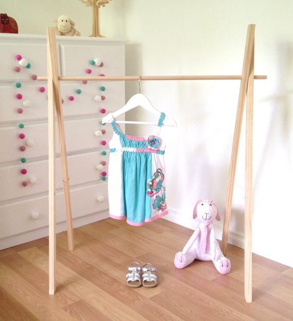 Diy Child Clothes Rack: Childrens Clothes Rack Wooden Clothing Rack Costume Rack