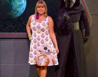 dress inspired by stories in the stars, robot friends and a galaxy... well you know