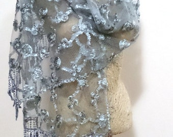 spring wedding shawl, gray wedding shawl, gray shawl wedding, shawl wedding gray, bridal shawl, bridal cover up, lace scarf