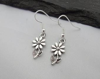 Flower Earrings, Silver Earrings, Charm Earrings, Floral earrings, Floral Jewellery, Gifts, Gift For Her, Florist Earrings, Florist Gifts