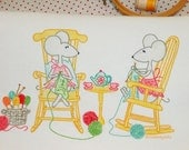 PDF Hand Embroidery Pattern, Miss Mousey, A Knitting Kind of Day, Knitting Design, Quilt Pattern Design, Hand Embroidery