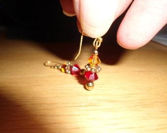Vintage Beaded Leverback Dangle Earring