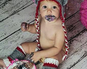 Sock Monkey Costume, Newborn Sock Monkey Costume, Sock Monkey Leggings, Coming Home Outfit, Infant Monkey Hat, Cake smash outfit