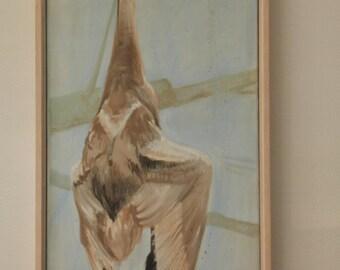 Oil-painting Dead Swan