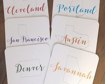 Travel Coasters - Set of 6