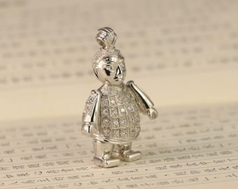 Sterling Silver Terracotta Warriors pendant necklace - Unique gift