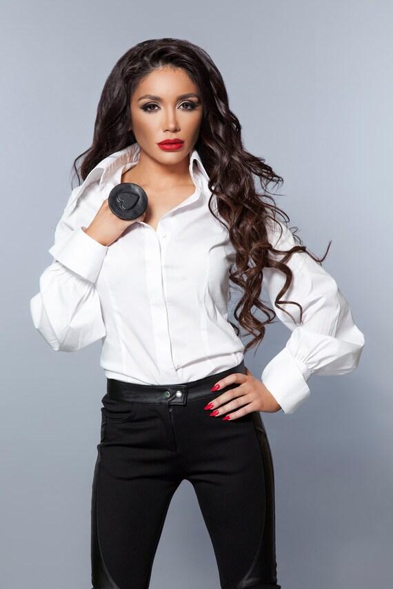 White Blouse Large Collar 20
