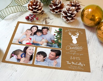 Country Christmas Cards, Deer Greeting Card, Photo Christmas Cards, Deer