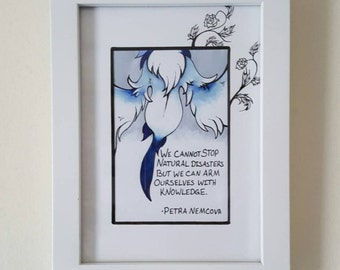 Natural Disaster: Framed Mega Absol Illustration