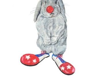 Bunny Rabbit nursery print rabbit watercolor, rabbit nursery print, rabbit wall art, rabbit lovers gift, bunny wall art, rabbit illustration
