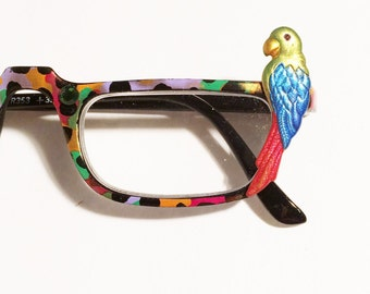 Parrot in Paradise Hand Painted Reading glasses +3.50