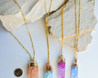 Rustic Crackle Aura Pointy quartz mineral gemstones/Bold, Elegant and Remarkable/perfect gift for any occasions