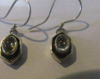 sterling silver earrings, semi precious stone, handmade earrings, handcrafted earrings, vintage earrings, dangle earrings, drop earrings,