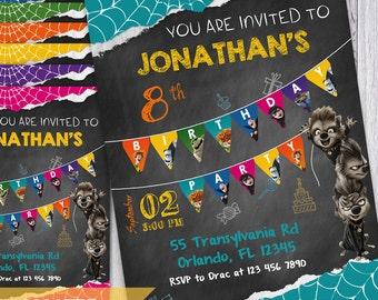 Hotel Transylvania Invitations | Hotel Transylvania 2 | Transylvania Party Invitations |  Transylvania Birthday | Transylvania Party Ideas