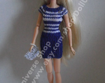 Handknitted Cocktail Dress with clutch bag for Momoko