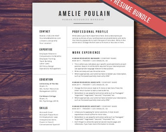 Professional Resume Template for Word | 4Pg Bundle | CV Template, Professional, Creative Resume Template, Resume Template Instant Download