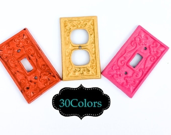 Light Switch Cover, Anthropologie, Wrought Iron, Outlet Cover, Metal Light Switch Cover, Kitchen Lighting, Cast Iron, Shabby Chic