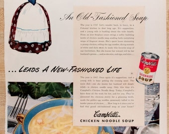 Campbell's Chicken Noodle Soup Ad from 1947  (AD47-20)