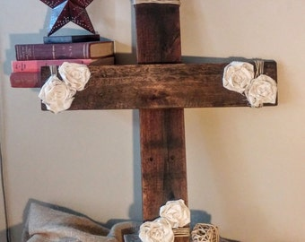 Rustic Country Chic Wooden Cross