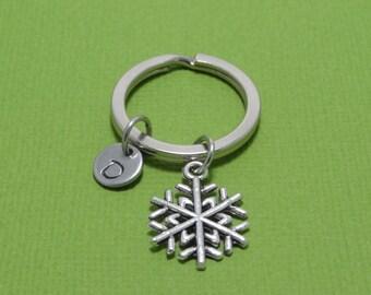 Snowflake Keychain, Christmas Keychain, Christmas Gift, Xmas, Santa, Holiday, Personalized, Customized, Engraved, Monogram, Gift Idea