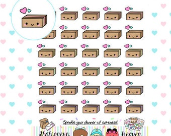 Kawaii Happy Mail Box/ Package | Perfect for any Planner (011B)