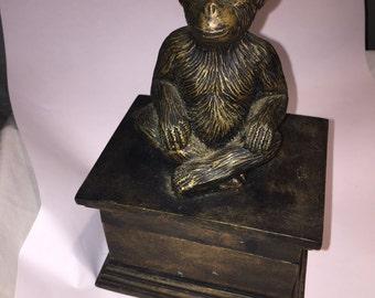 Vintage monkey trinket box