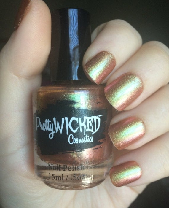 Nail Polish Colors Bronze: Gold/Copper/Bronze Chameleon Nail Polish By