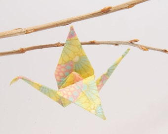 "Origami ""Crane pastel Doucette""-brooch"
