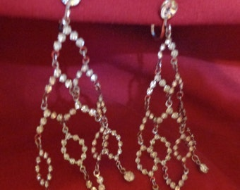 vintage bold chandelier earrings