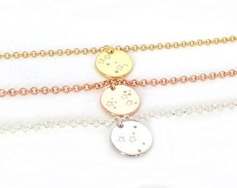 Zodiac constellation bracelet, silver zodiac bracelet, sign bracelet, astrology bracelet, constellation jewelry, zodiac jewelry
