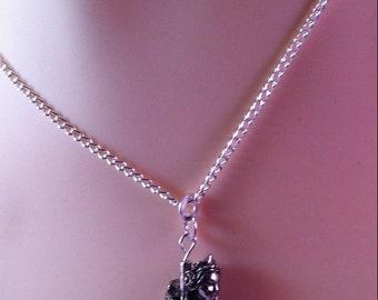 Mermaid necklace, statement necklace, unusual necklace, 22 inch necklace, quirky necklace, versatile necklace, GreenGirlStudio,FREE SHIPPING