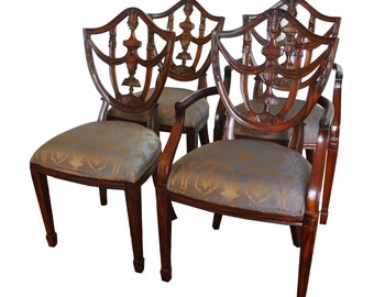 Maitland Smith Mahogany Shield Back Side Chairs