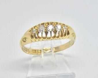 Edwardian Five Stone Diamond Ring   Size N 1/4 (UK) 7 (US)   Free Sizing & Shipping