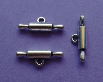 6 Rolling Pin Charms Silver - CS2282