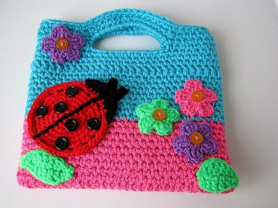 Bags for children Knitted bag for child Gift by NataliaHandmede