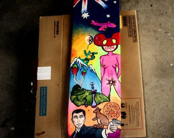 Hand Painted - Custom - Skateboard Deck - MADE TO ORDER