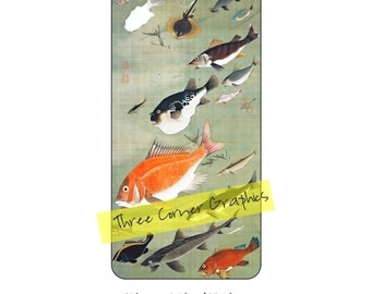 Printable cuttable iPhone 6+ case design; Japanese fine art fish painting, DIY print at home iPhone accessories for 6 Plus or 6S Plus