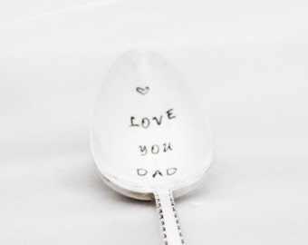 LOVE you DAD Spoon Hand Stamped on Silver plated , Stamped Flatware, Stamped Silverware, love you Dad Spoon, Dad Gift, Custom, Under 20