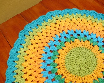 Handmade Crochet Table Mandala - Modern Doily
