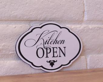 Kitchen Open Wood Sign Elegant Kitchen Decor Home Decor Black And White