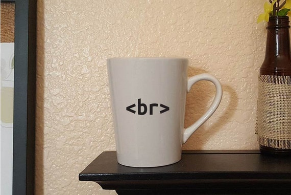 Coder Programmer Break coffee, coder gifts, programer gifts, vinyl mugs, desk job gifts, geek mugs, 14 oz, 12 oz