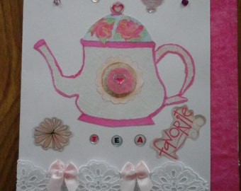 Handmade Tea Card